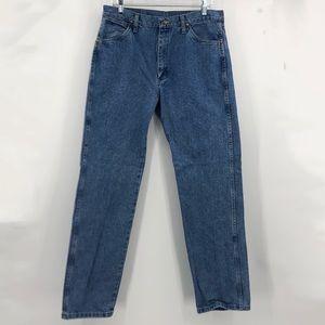 Wrangler blue jeans
